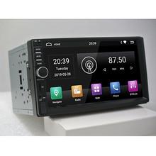 """2din android 9.0 car radio auto bluetooth doppio din lettore multimediale di Navigazione GPS universale 7 """"HD 1024*600 di tocco di sostegno dab"""