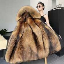New winter thick fur coat, mink hair mid-length liner, detachable knee-length fur coat