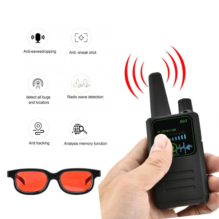 Image 2 - M003 Multi function Anti Espionage Anti tracking Camera Wireless Signal Detector with Glasses New-in Anti Candid Camera Detector from Security & Protection