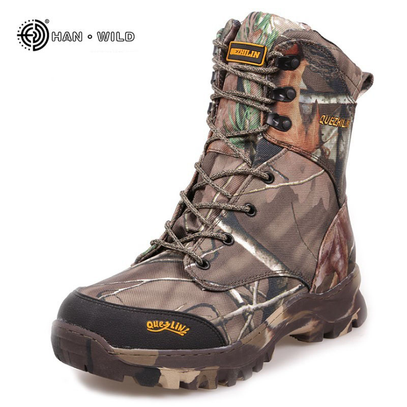 2019 Winter Men Military Army Boots Warm Waterproof camouflage Leather Desert Combat boot Safety Shoes Tactical Snow Boots    1