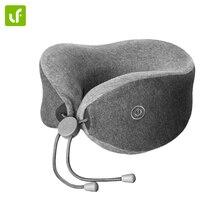 Lefan portátil em forma de u ajuda sono travesseiro dois modo massagem pescoço travesseiros bedsit travesseiros para uso de viagem em casa de escritório