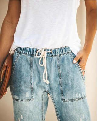 Frauen Damen Mode Sexy Hohe Taille Stretch Bleistift Denim Hosen Dünne Dünne Jeans