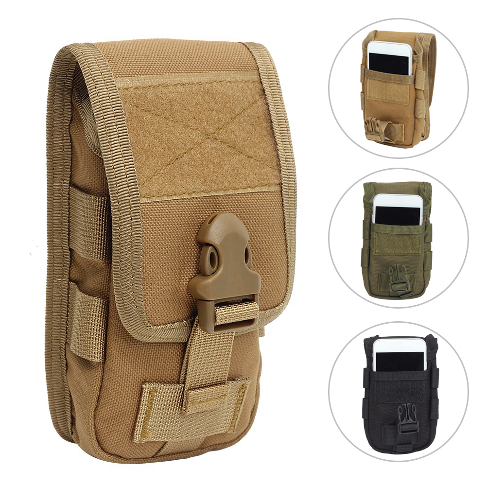 Double-layer Bag Tactical Phone Pouch Bag Mobile Phone Waist Army Pouch Money Tools Pocket Belt Military Hunting Molle Fanny Bag