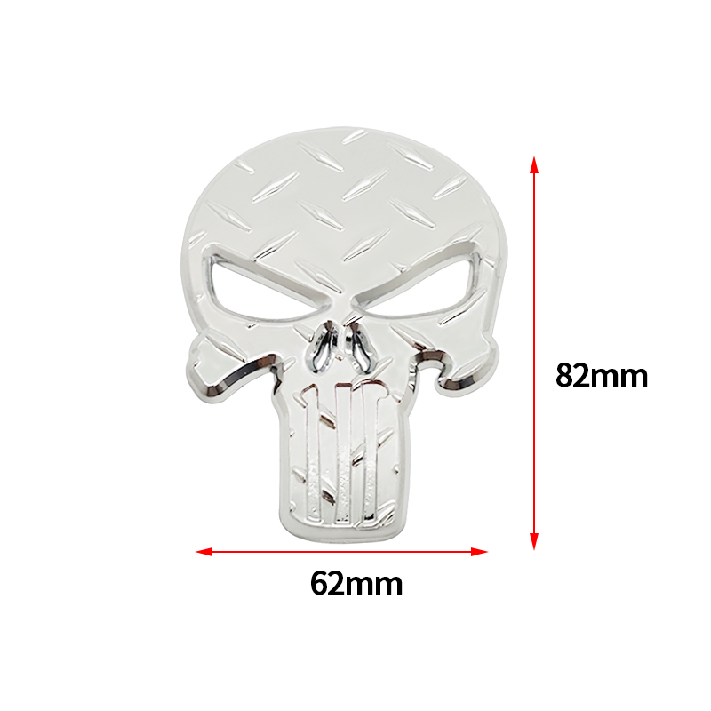 lowest price 3D Metal The for Punisher Skull Skeleton Car Motorcycle Body Emblem Badge Fashion Decoration Automobile Styling Car accessories