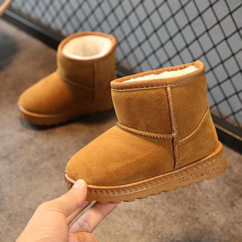 Winter Child Fashion Snow Boots Thick New Kids Cotton Shoes Warm Plush Soft Bottom Girls Short Boots Ski Boot Baby Toddler Boots