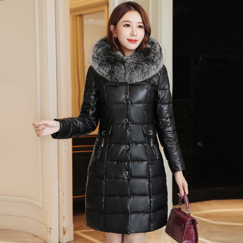 2019 Winter New Popular Style Sexy Single Breasted Designs Simple Elegant Romantic Slim Thicker Lady Casual   Down     Coat   Plus Size