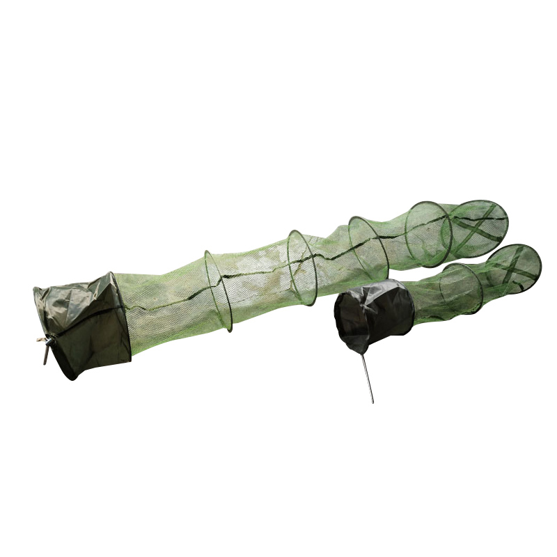 Panier de pêche en Nylon télescopique, pliable, à séchage rapide, filets de plongée, cage à crevettes en filet Fyke équipement en plein air 4