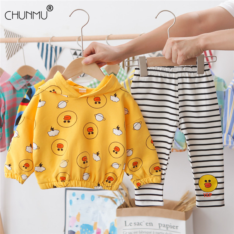 Girl Clothing Set 2020 Spring Autumn Sport Outfit Cute Print Kid Suit Children Baby Clothing Hoodies + pant 2pcs/set