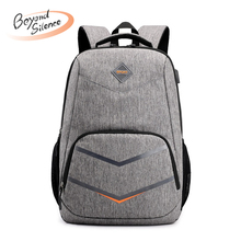 Men Backpack Waterproof Nylon USB Backbag Teenagers Boys College School Mochila Backpack for Laptop Travel Rucksack
