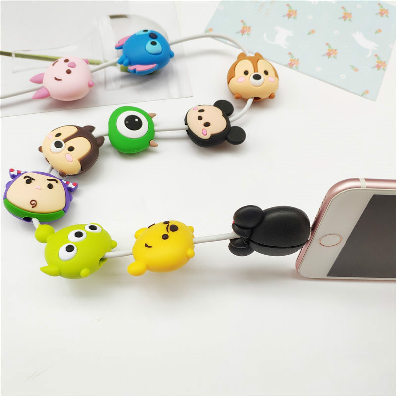 Image 5 - Cartoon Figure Cable Protector for IPhone Lightning Type C Micro USB TSUM Data Line Silicone Winder for Samsung Xiaomi Huawei-in Mobile Phone Straps from Cellphones & Telecommunications