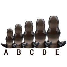 5 tamanhos oco plugue anal butt plug anal dilatador enema macio espéculo prostata massageador brinquedos sexuais para mulher masculino produtos do sexo