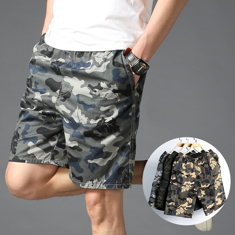 Cotton Camouflage Shorts Men Clothing 2020 Work Out For Man Cargo Shorts Homme Casual Straight Shorts Male Large Size Short Pant