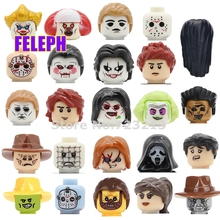 Single Horror Movie Figure Head Freedy Hannibal SPN Pennywise Childs Play Billy Freedy Jeepers Creepers Building Blocks Toys