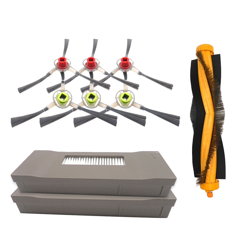 Cleaning PC Main Side Brushes Filters Set for Ecovacs M87 M88 M80 Pro Dt85 Dm85|  - title=