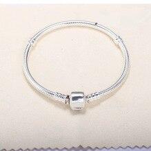 925 Sterling Silver Long Snake Chain Bracelet Pulseira Feminina Jewelry for Women 16cm- 22 Silver 925 Jewelry Gemstone Bracelet