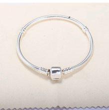 Bracelet Long en argent Sterling 925 pour femme, chaîne serpent, bijoux féminins, 16cm – 22 cm, pierres précieuses, 925