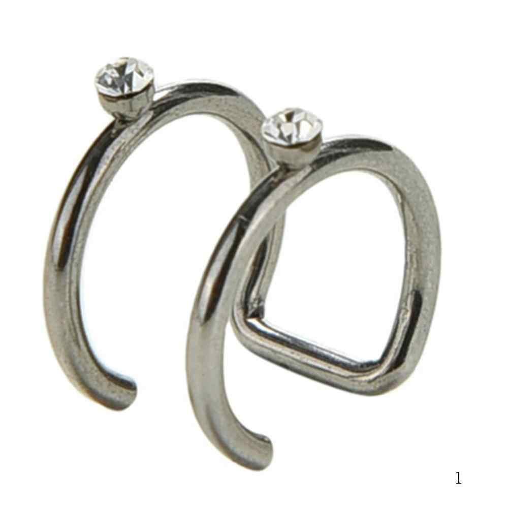1 pc wysokiej jakości stali medycznej w kształcie litery C fałszywe Pop biżuteria kolczyki ucho klamra