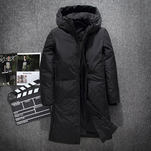 Winter Jacket Coat X-Long Warm Clothing Outerwear Down Fashion Thick Solid Men