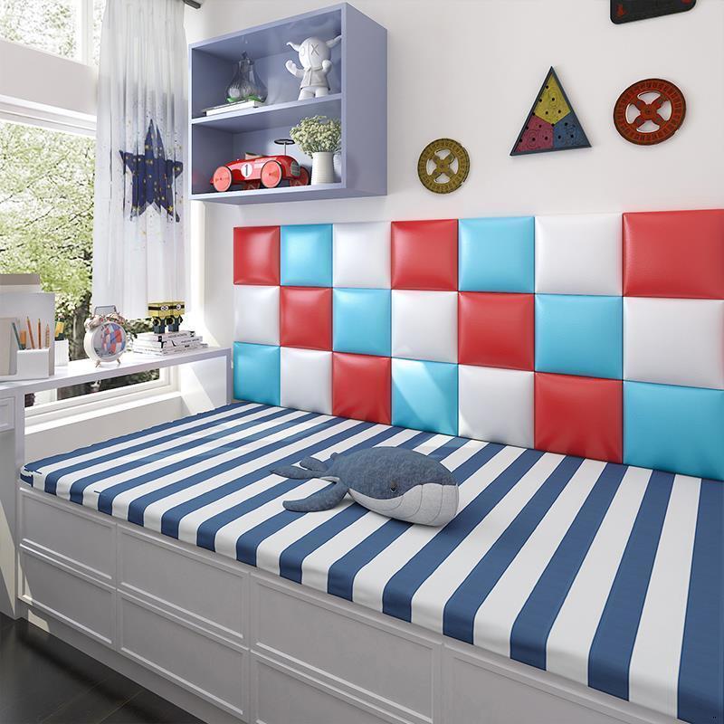 Letto Polipiel Cojin Cabezero Cabezal Coussin Children 3D Wall Sticker Bed Tete Lit Pared De Cabeceira Cabecero Cama Head Board
