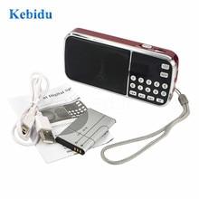 Kebidu 패션 L 088 휴대용 HIFI 미니 스피커 MP3 오디오 음악 플레이어 손전등 증폭기 마이크로 SD TF FM 손전등 라디오