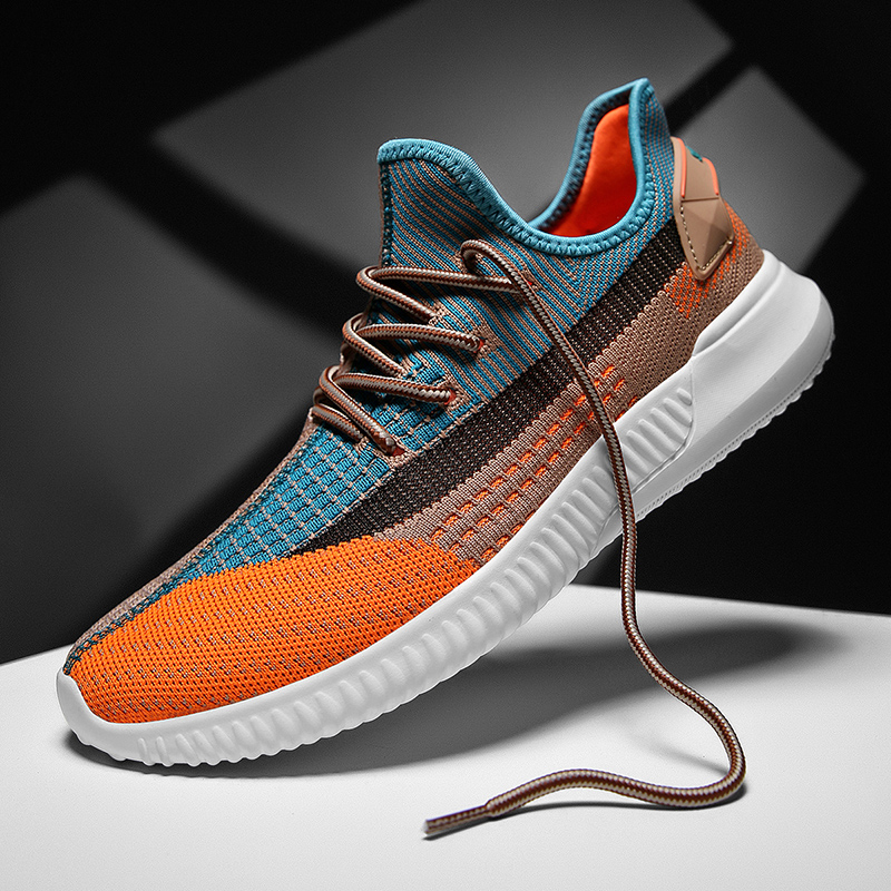 2021 new men sneakers shoes light breathable casual shoes mesh fashion gray large size sports walking brand 46 size students 1