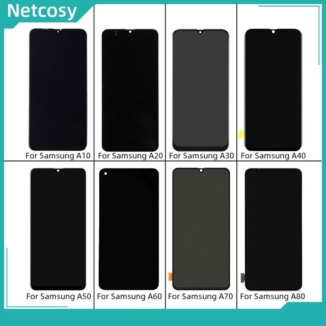 Dokunmatik LCD ekran ekran samsung için dijitalleştirici montajı Galaxy A10 A105/A20 A205/A30 A305/A40 A405/A50 A505/A60 /A70 A705/A80