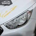 Внешняя ABS Хромированная передняя крышка лампы фары крышки автомобильные аксессуары для Hyundai Tucson IX35 2010 2011 2012 2013 2014