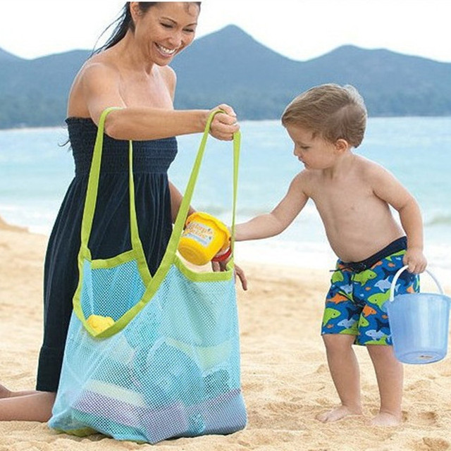 Outdoor Children's Beach Toys Quick Storage Bag Digging Sand Tool Clutter Storage Bag Foldable Portable Beach Bag Swimming Bag 2