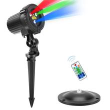 Christmas-Lights Projector Decoration Showers Rgb Laser Remote Stars Garden Moving Outdoor