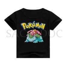все цены на Pokemon Venusaur 3D Print T Shirt Baby Boys Girls Casual T-shirt Kids Short Sleeve Tops Tees Children Outwear Clothes