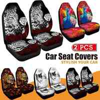 3D Animal Printing Peacock Print Front Car Seat Cover Universal Car Seat Protector Seat Cushion Full Cover For Most Car for SUV