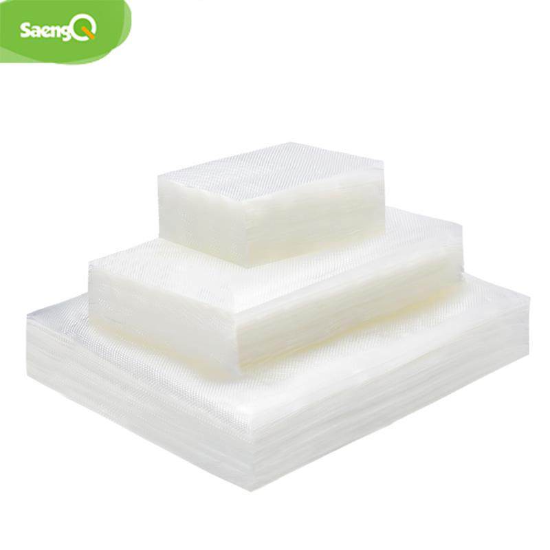 saengQ 100pcs/lot Kitchen Vacuum Bags for Food Vacuum Sealer Packing Machine Food Storage Bag BPA Free Kitchen Accessories