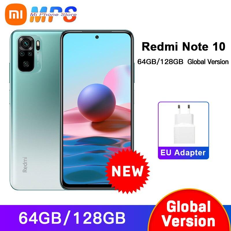 Глобальная версия смартфона Xiaomi Redmi Note 10 4 ГБ 64 ГБ/4 ГБ 128 ГБ/6 128 ГБ Snapdragon 678 AMOLED дисплей 48MP Quad Camera 33W