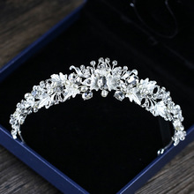 2020 Top Wedding Crown for Bridal Headpiece Color Baroque Crystal tiaras and crowns Bride tiara Wedding Hair Accessories цена 2017