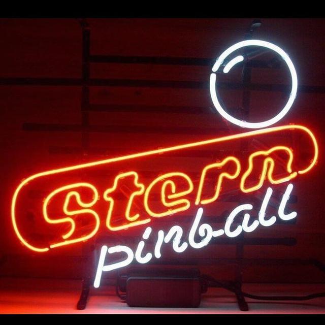 Barra di birra su ordinazione dellinsegna della luce al Neon di vetro della sala giochi di flipper