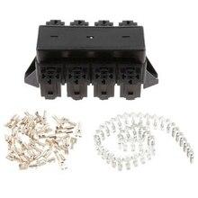 Черный автомобиль 20-способ лезвие держатель предохранителя 8-канальный видеорегистратор релейный разъём Fusebox распределительный блок автомат защити цепи автомеханический переключатель предохранитель держатель