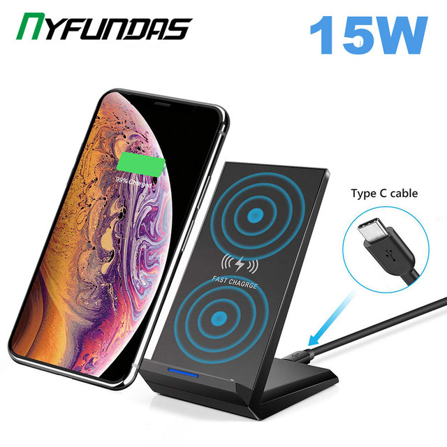 Wireless Charger 15W QI Fast Wireless Charging Stand For Samsung S10 Plus S9 S8 Note 10 9 8 Huawei Xiaomi iPhone 11 XR XS Max X