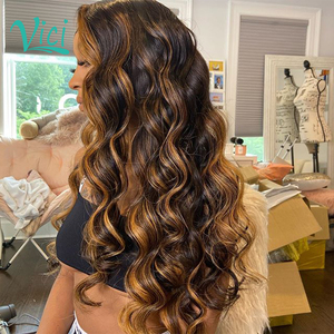 Blonde Lace Front Wig 13x4 Body Wave Frontal Wig Colored Ombre Human Hair Wigs 1B/30 Highlight Brazilian Natural Hair Wig 150%