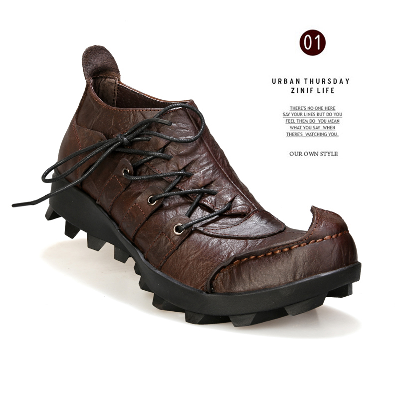 New Men Casual Breathable Soft Handmade Leather Shoes Adult Driving Shoes Comfortable Men Outdoor Loafer Shoe Designer Sneakers