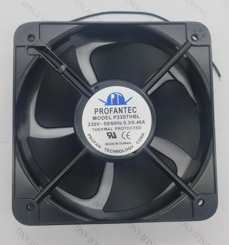 For PROFANTEC P2207HBL 205*72mm AC230V 0.3/0.46A Inverter Axial Fan Cooling Fan