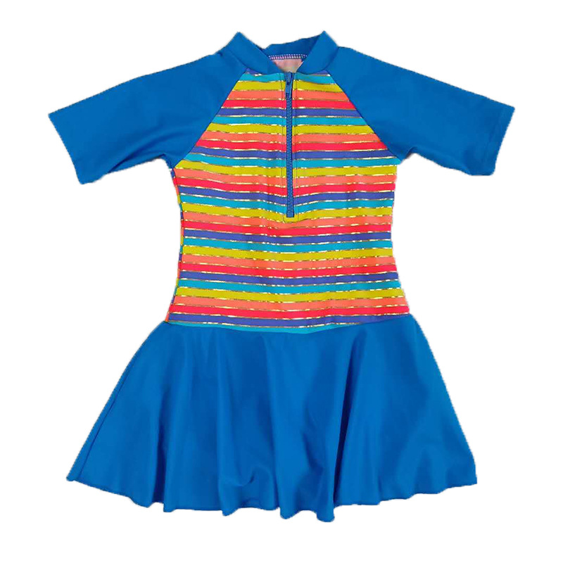 19 Na Tony Genuine Product Girls One-piece CHILDREN'S Swimwear Protection Back Sun-resistant Korean-style Bathing Suit Manufactu