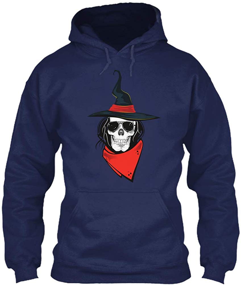 Толстовка с черепом и капюшоном ведьмы Gildan 8oz Тяжелая смесь Hoodieunisex Мужская Женская толстовка с капюшоном