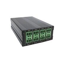 Mini pro 4 в 4 из IP сети Dante аудио передатчик/конвертер с 2 Сбалансированный микрофон/AUX, поддержка 12VDC или PoE источник питания