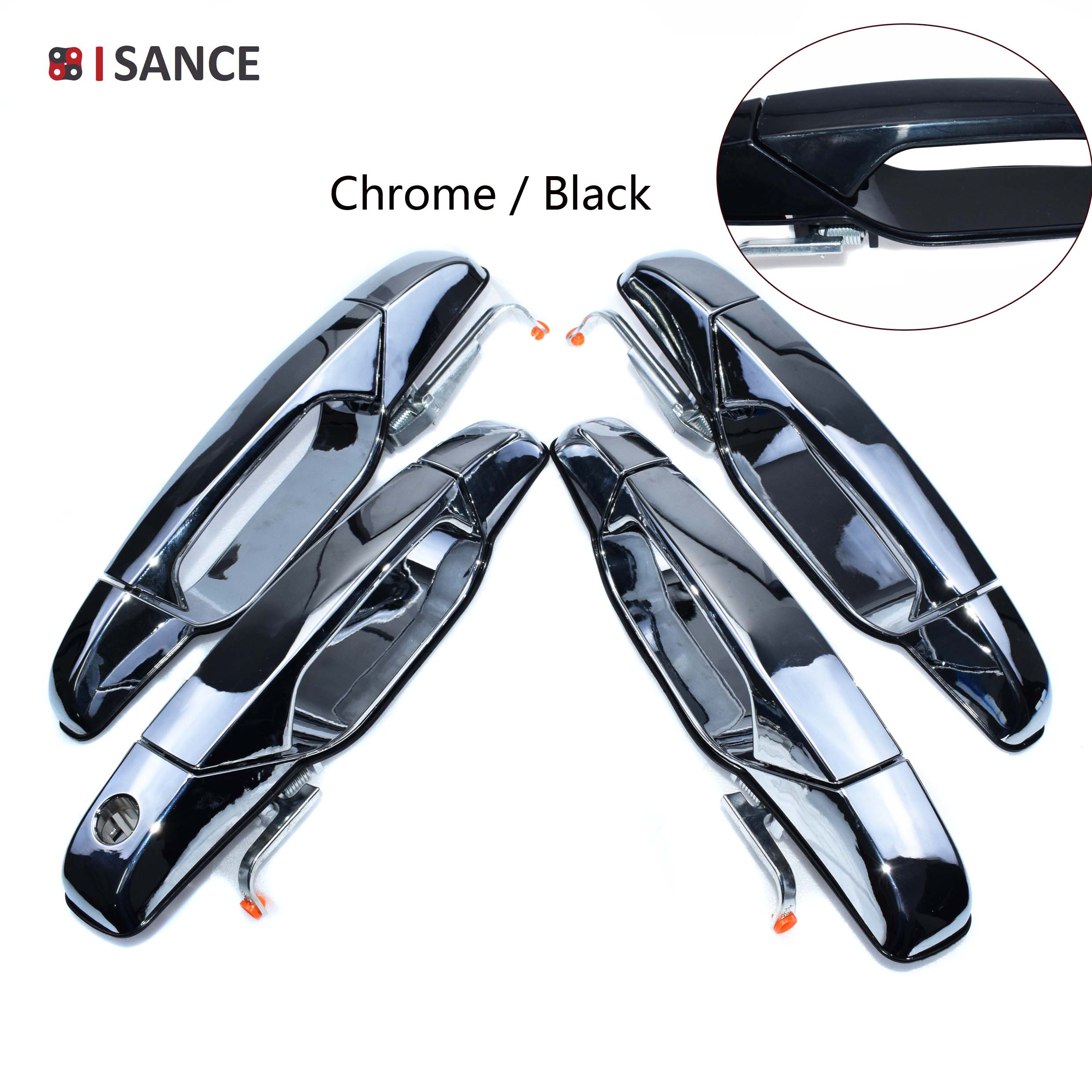Front Left Driver Side Exterior Chrome Door Handle For 07-13 Chevy GMC Cadillac