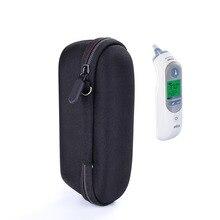 Caso termômetro para braun thermoscan 7 irt6520 transportando alça de armazenamento eva saco de viagem dura protetor protetor (apenas caso)