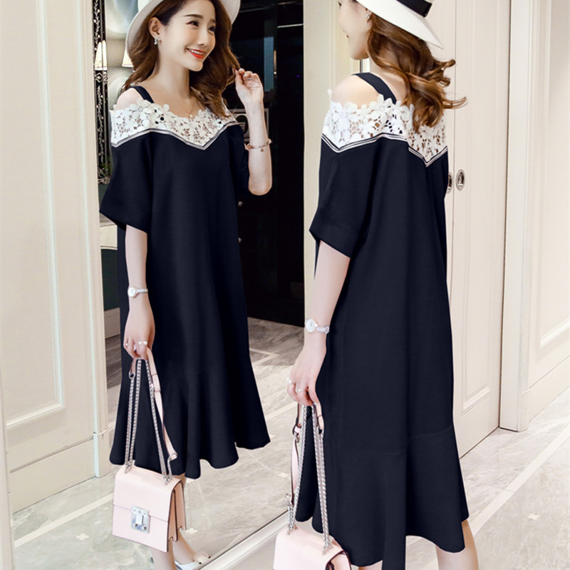 Pregnant dresses for women shoulderless loose collar maternity set clothes maternity gowns pregnancy korean style