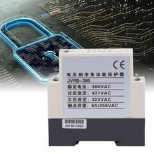 JVRD-380 380V AC 3A Din rail Phase Sequence Protection Relay Monitoring Voltage Control Device цена в Москве и Питере