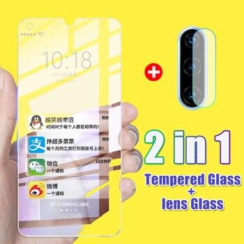 Pokrowiec kamery szkło hartowane na przód 2 w 1 dla Huawei P20 Pro P30 folia ochronna na ekran Lite dla Huawei Mate 20 Lite 30 pełne szkło Film