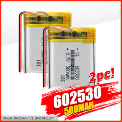 Литий-ионный полимерный аккумулятор 2/4, 602530 в, 3,7 мАч, 1/500 шт.