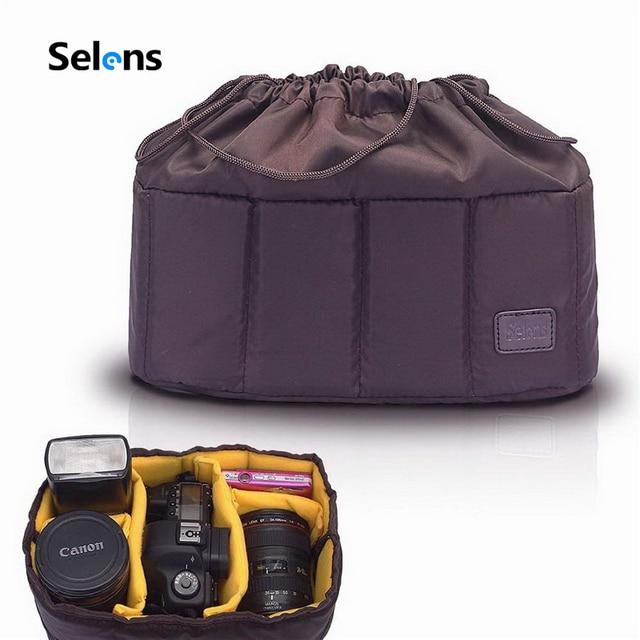Гибкий чехол для камеры Selens, стеганая сумка для Canon, Nikon, Sony, DSLR, SLR, объектив камеры
